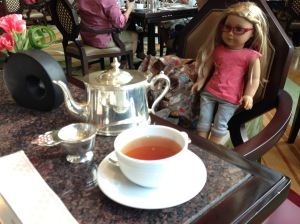 Isabelle Taking Tea at the Peninsula Hotel.  Spoiled!